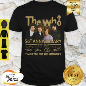 The Who 56th Anniversary 1964 2020 Signatures Thank You For The Memories Shirt