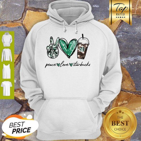 Glitter Peace Love Starbucks Coffee Hoodie