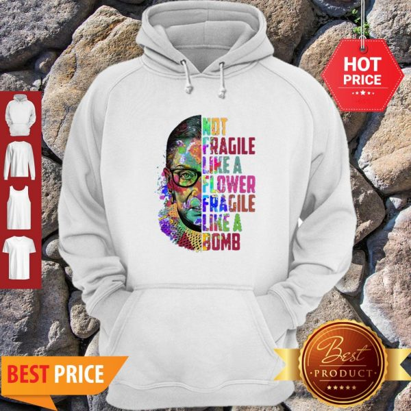 Official Fragile Like A Flower But A Bomb Hoodie