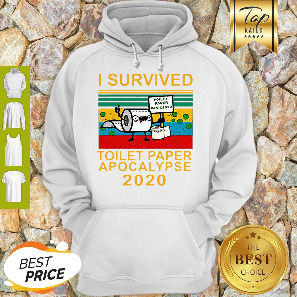 I Survived Toilet Paper Apocalypse 2020 Covid 19 Sunset Hoodie