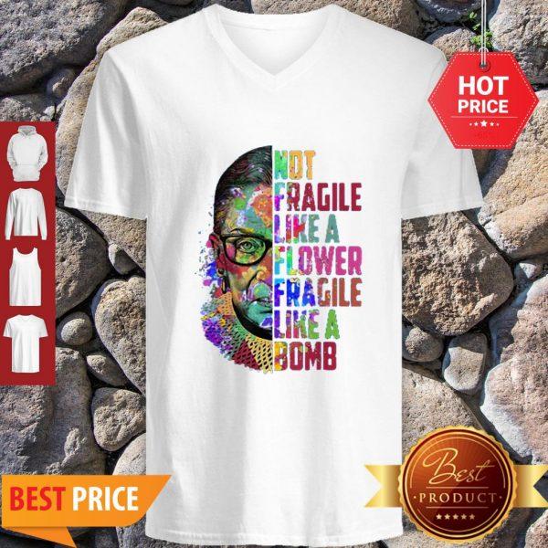 Official Fragile Like A Flower But A Bomb V-neck