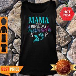 Beautiful Mama Of The Birthday Mermaid Matching Family Tank Top