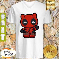 Hi Yukio Marvel Deadpool Hello Kitty V-neck