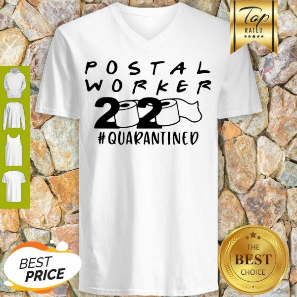 Postal Worker 2020 Quarantined V-neck