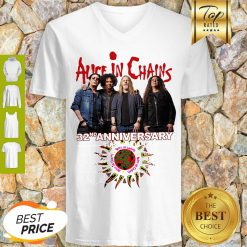 Alice In Chains 32nd Anniversary 1987 2019 Signature V-neck