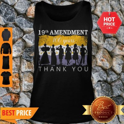 19th Amendment 100 Years Thank You 1920 Victory Flag Tank Top