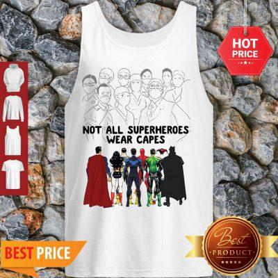 Frontline Staff Not All Superheroes Wear Capes Coronavirus Tank Top