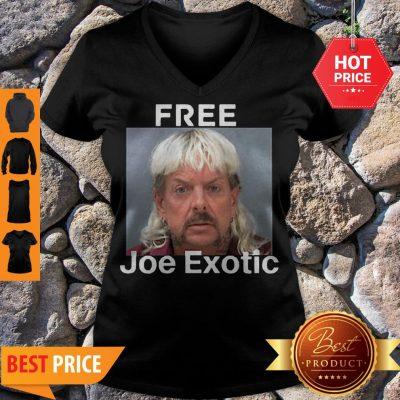 Free Joe Exotic Tiger King Innocent Tee V-neck