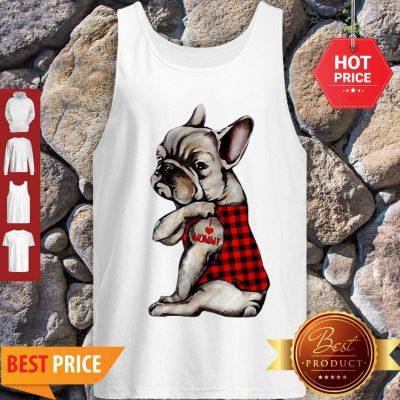 French Bulldog Tattoo I Love Mommy Animal Lover Tank Top