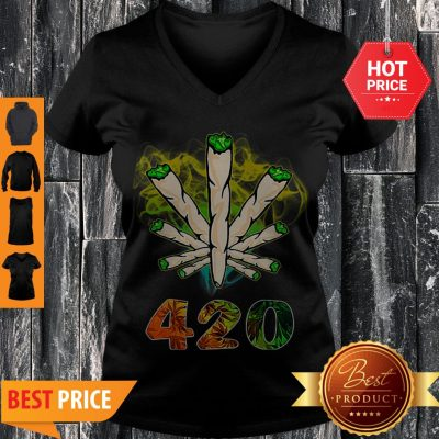 Official Cannabis Weed 420 V-neck