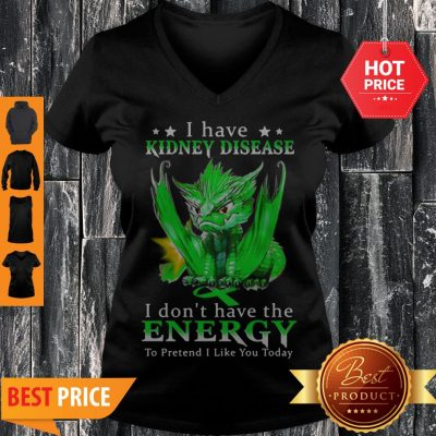 Dragon I Have Kidney Disease I Don't Have The Energy To Pretend V-neck