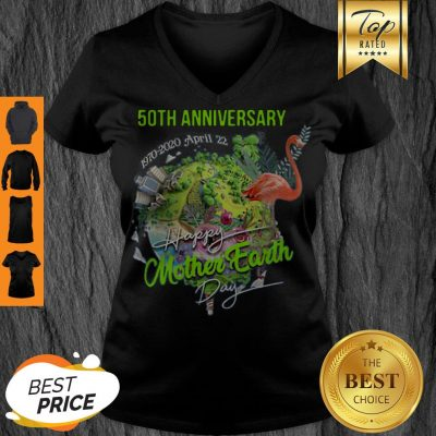 50th Anniversary Happy Mother Earth Day V-neck