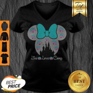 Disney Minnie Mouse Live Love Camp Disney Minnie Mouse Live Love Camp V-neck