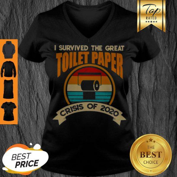 I Survived The Great Toilet Paper Crisis Of 2020 Vintage V-neck