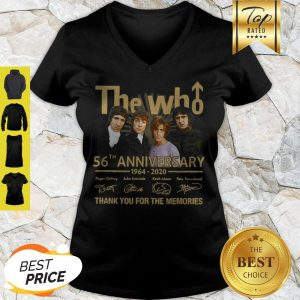 The Who 56th Anniversary 1964 2020 Signatures Thank You For The Memories V-neck