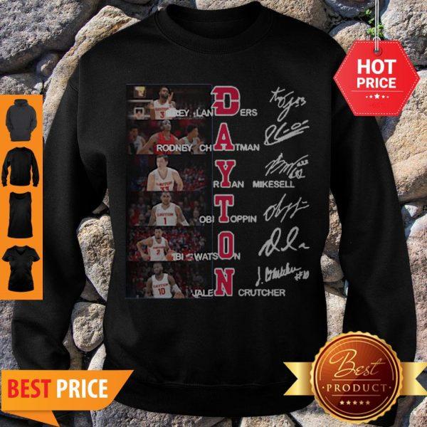 Dayton Flyers Trey Landers Rodney Chatman All Character Signatures Sweatshirt