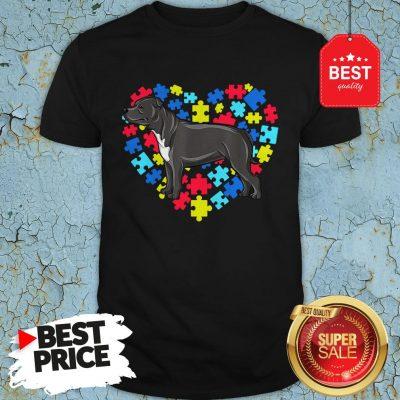 Autism Awareness Staffordshire Bull Terrier Dog Heart Gift Shirt