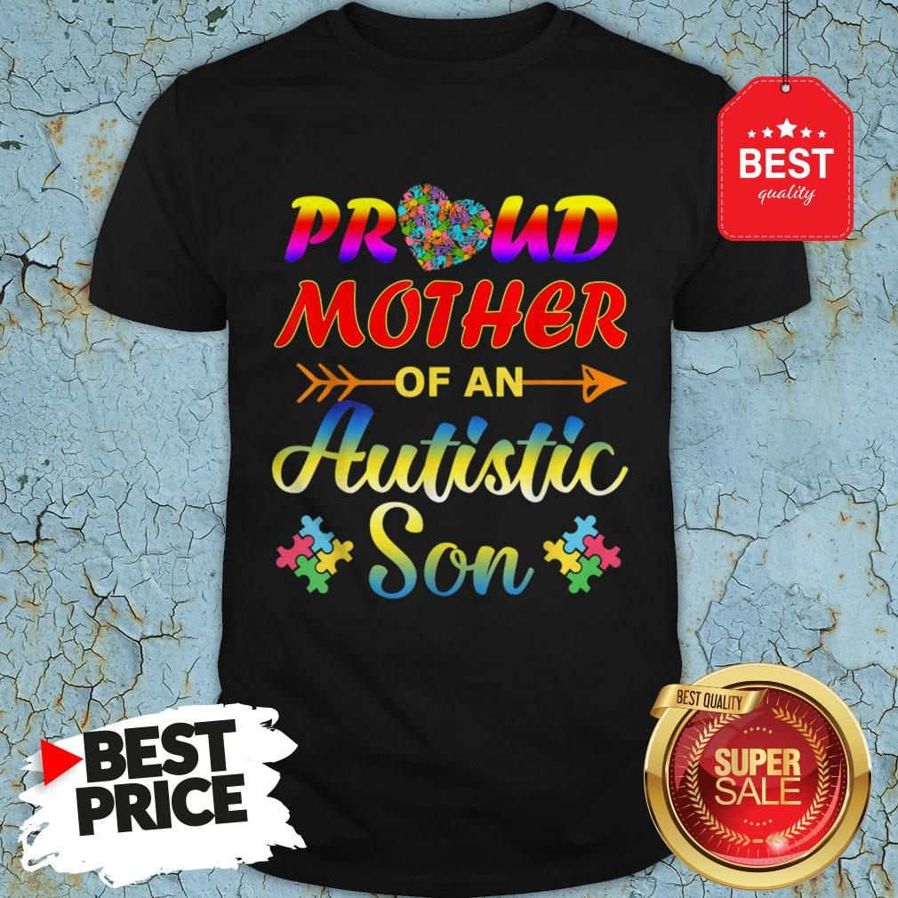 Autism Awareness Tee Proud Mother Autistic Son Funny Gifts Shirt Unisex Tshirt