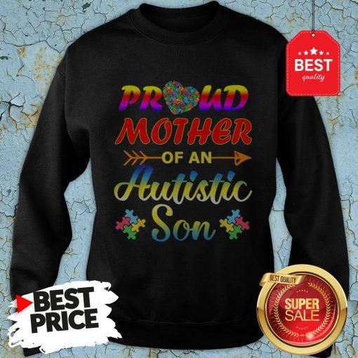 Autism Awareness Tee Proud Mother Autistic Son Funny Gifts Sweatshirt