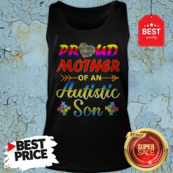 Autism Awareness Tee Proud Mother Autistic Son Funny Gifts Tank-top