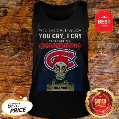 Jeff Dunham You Laugh I Laugh You Cry Montreal Canadiens Logo Tank-top