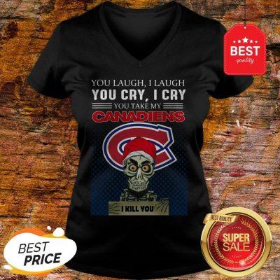 Jeff Dunham You Laugh I Laugh You Cry Montreal Canadiens Logo V-neck