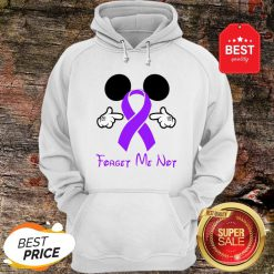 Mickey Mouse Forget Me Not Fibromyalgia Awareness Hoodie