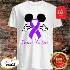 Mickey Mouse Forget Me Not Fibromyalgia Awareness Shirt