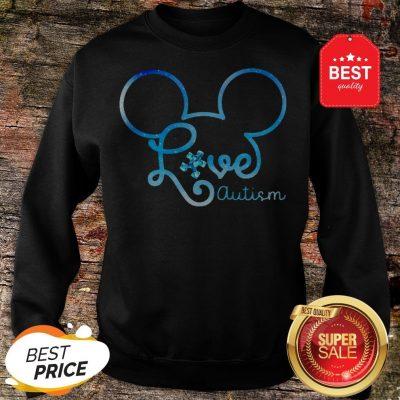 Mickey Mouse Forget Me Not Fibromyalgia Awareness Sweatshirt