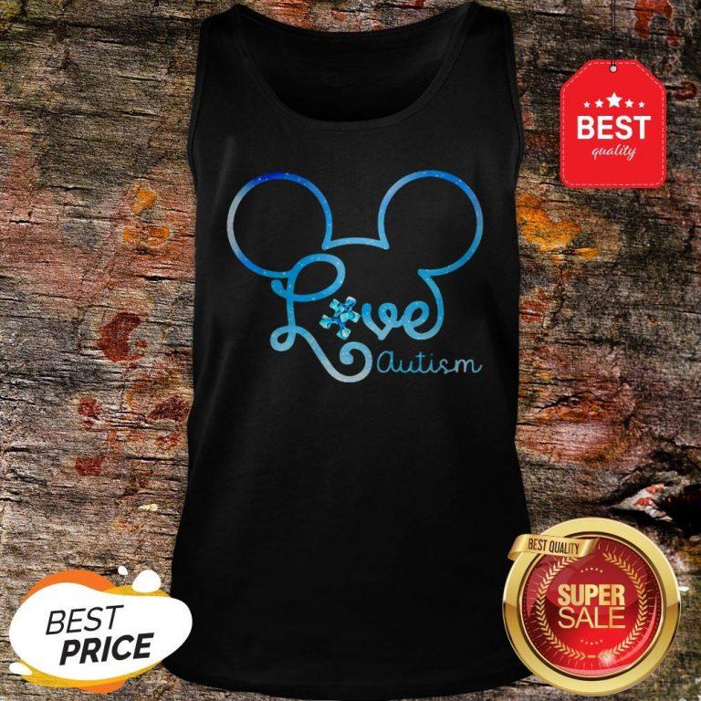 Mickey Mouse Forget Me Not Fibromyalgia Awareness Tank-top