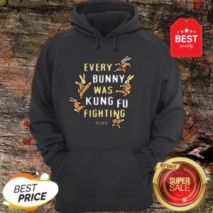 Nice Every Bunny Was Kung Fu Fighting Heyah Hoodie