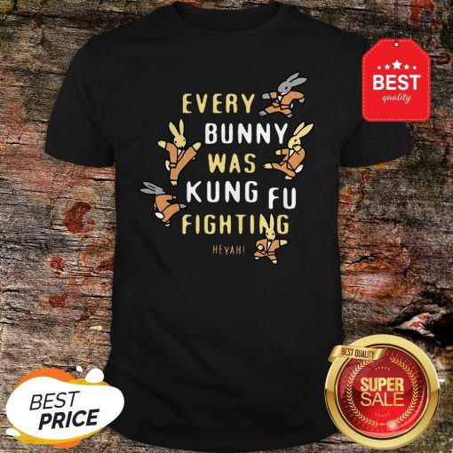 Nice Every Bunny Was Kung Fu Fighting Heyah Shirt