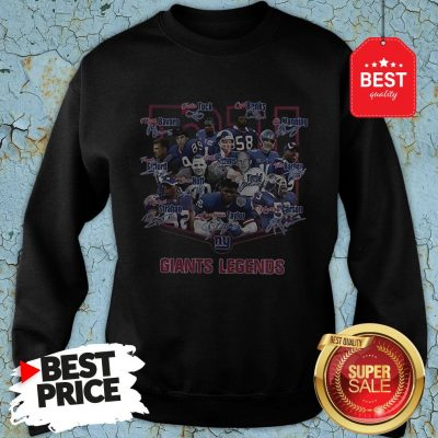 Nice New York Giants Legends Signatures Sweatshirt