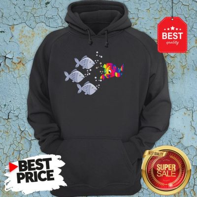 Official Autism Awareness Stand Out Fish Hoodie