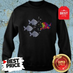 Official Autism Awareness Stand Out Fish Sweatshirt
