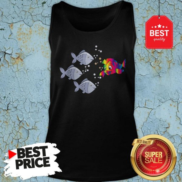 Official Autism Awareness Stand Out Fish Tank-top