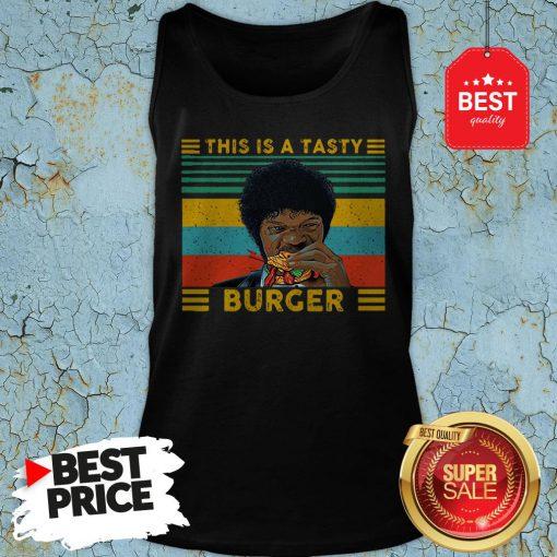 Vintage Pulp Fiction This Is A Tasty Burger Samuel L. Jackson Tank-top