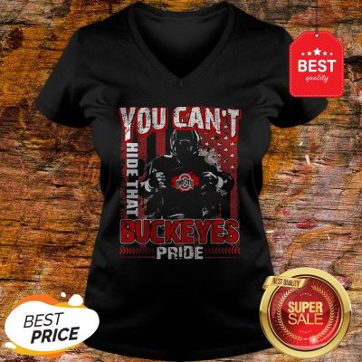 You Can't Hide That Ohio State Buckeyes Pride American Flag V-neck