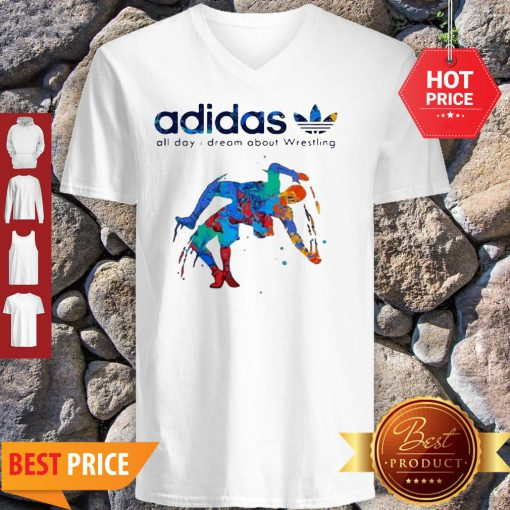 Adidas All Day I Dream About Wrestling Colors V-neck