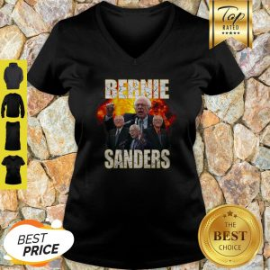 Bernie Sanders Suffered Heart Attack Fire V-neck