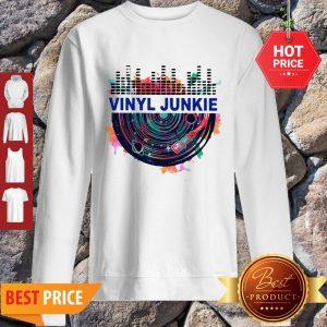 Colors Vinyl Junkie Records Music Sweatshirt