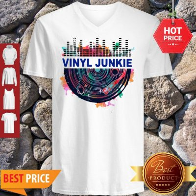 Colors Vinyl Junkie Records Music V-neck