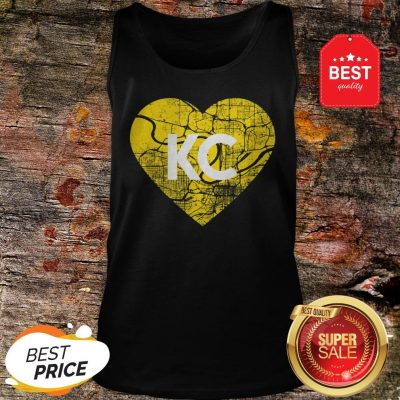 I Love Kansas City Football KC Heart Map Tank Top