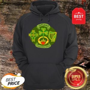 Ireland Saint Patrick's Day Celtic Cross Shamrock Green Hoodie
