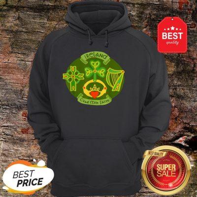 Ireland Saint Patrick's Day Celtic Cross Shamrock Green Hoodie