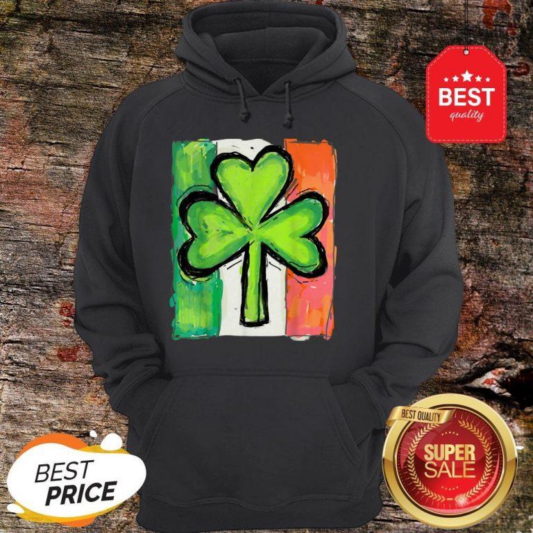 IRISH AMERICAN FLAG Ireland Shamrock St Patricks Day Hoodie