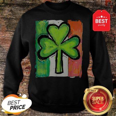 IRISH AMERICAN FLAG Ireland Shamrock St Patricks Day Sweatshirt