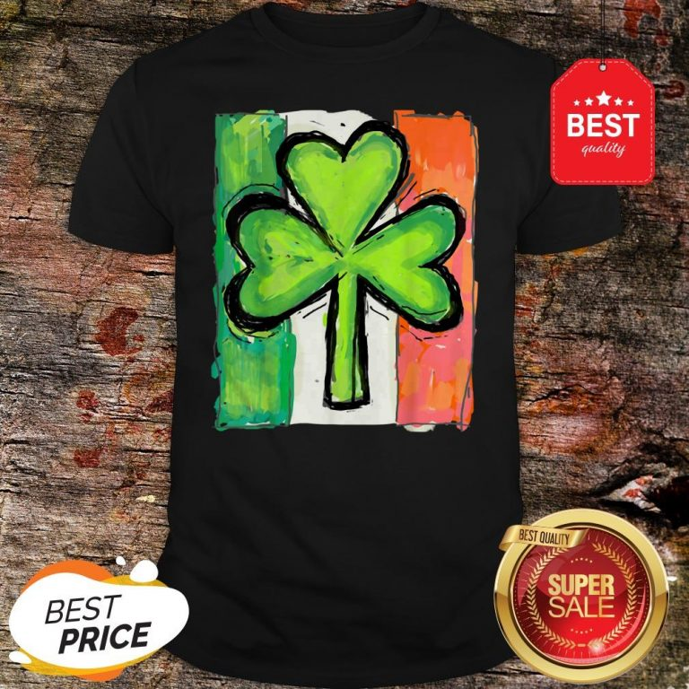IRISH AMERICAN FLAG Ireland Shamrock St Patricks Day T-Shirt