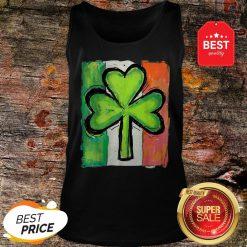 IRISH AMERICAN FLAG Ireland Shamrock St Patricks Day Tank Top