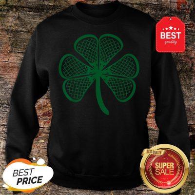 Lacrosse St Patricks Day Shamrock Lucky Lacrosse Sweatshirt